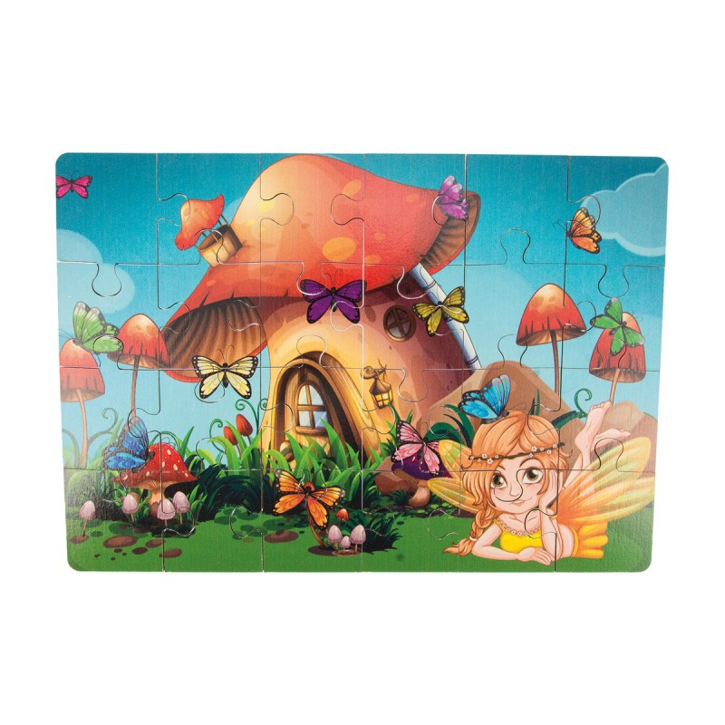 Holz-Puzzle Elfe - 24 Teile