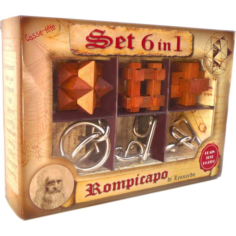 Set 6 Denkspiele in 1 -...